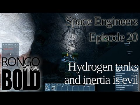 Space Engineers Survival | Episode 20 | Hydrogen tanks and inertia is evil