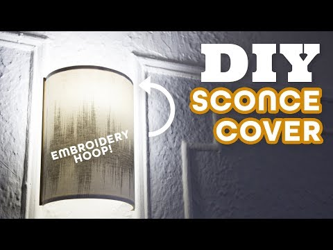 Update an Ugly Wall Sconce With a $10 DIY Lamp Shade | HGTV Handmade