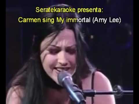 Amy Lee - My immortal Live Evanescence at David Letterman (cover karaoke sing by Carmen)