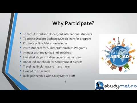Study Abroad  | Free Webinar  International Student Recruitment & Indian School Tie UP