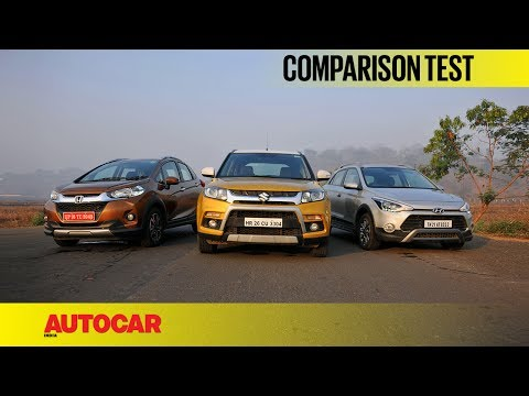 Honda WR-V vs Maruti Vitara Brezza vs Hyundai i20 Active | Comparison Test | Autocar India