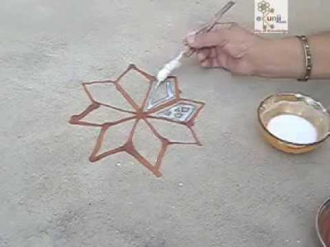 How To Make Rangoli | Mandana Rajasthani Tradition | Diwali Festival India | Ekunji