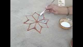 How to make Rangoli | Mandana Rajasthani Tradition | Diwali Festival India | ekunji