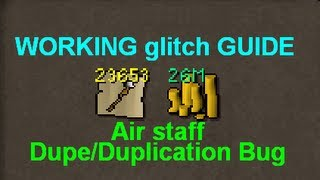 (WORKING) Runescape Glitch Guide: Air Staff Dupe/Duplication Bug Abuse Tutorial 2015