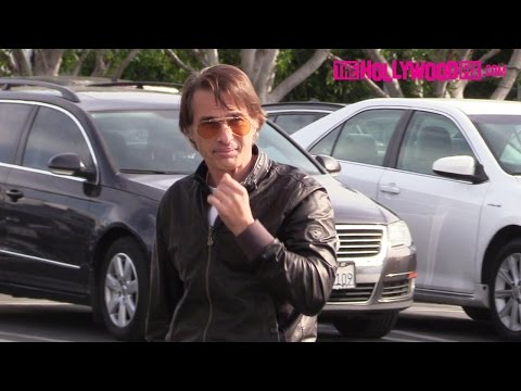 Olivier Martinez Halle Berry's ExHusband Has Lunch At Mauro's Cafe Inside Fred Segal 11.28.16