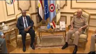 الفريق أول صدقى صبحى وزير الدفاع والإنتاج الحربى يلتقى نظيره الصومالى