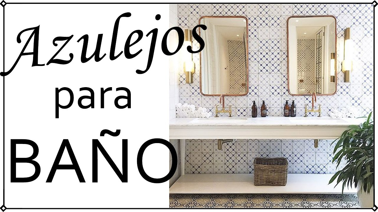 Azulejos modernos para ba o decoraci n patri blanco youtube - Azulejos de pared ...