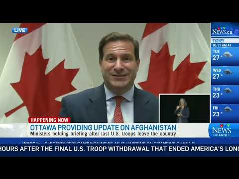 Canada's foreign affairs minister, immigration minister give an update on situation in Afghanistan