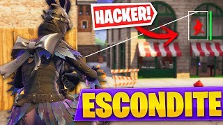 PLAYING HIDE WITH A *HACKER* IN FORTNITE GAMES PATIO: Battle Royale! - Roier