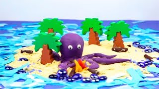 Stop Motion Cartoons For Kids Learn Colors Toys Play Doh