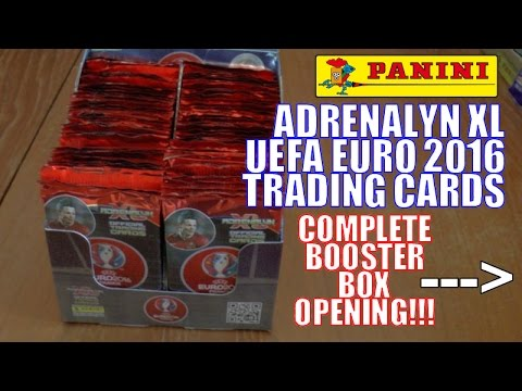UNBOXING BOOSTER BOX (630 CARDS!!!) ⚽️ Panini ADRENALYN XL EURO 2016 Trading Cards ⚽️