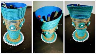 #SummerVacation #Reuseidea #ArtAndCraft #PenStand waste material craft DIY Art And Craft Pen Holder