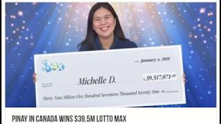 Pinay in Canada Wins $39.5M Lotto Max, January 2019 WOW!!!