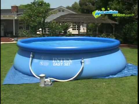 Como enterrei minha piscina intex 460 1 7 doovi for Filtro piscina carrefour