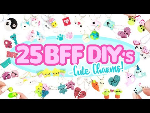25 BFF -cute charm- DIY's! - BIG Polymer Clay Compilation!