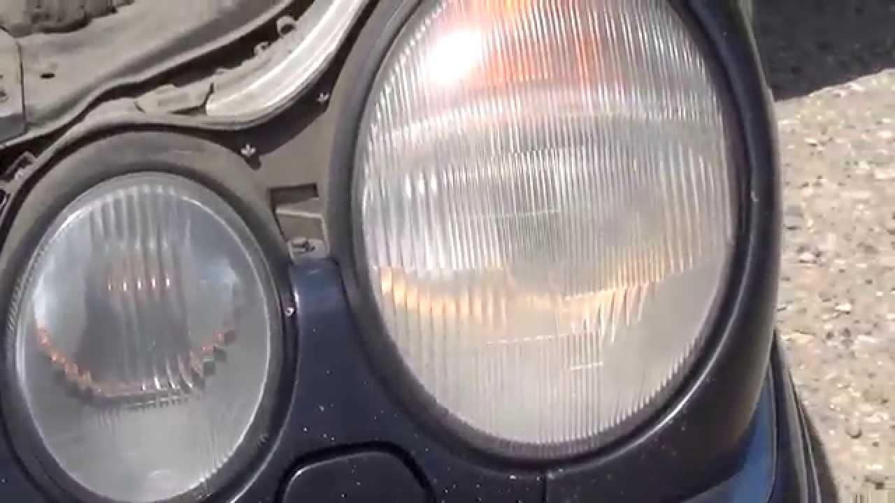как улучшить свет фар на мерседес 210