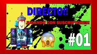😁Jugando with #2 subscribers! ROBLOX DIRECT / TUESDAY DRAW R0BUX😱