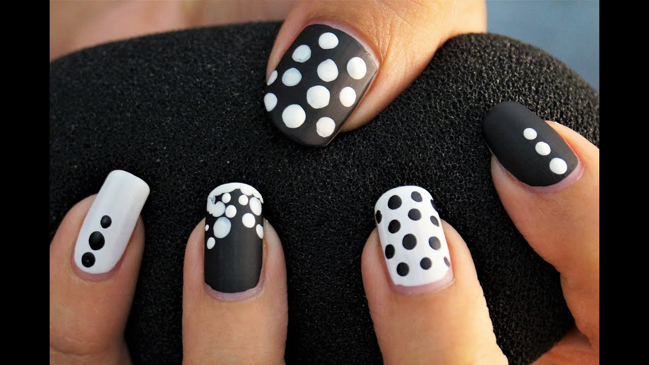 Nail Art Designs Step By Step At Home Simple Easy Nail Art Youtube