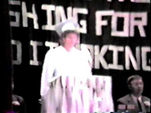 1986 Hordville graduation ceremony