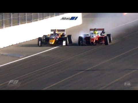 FIA Formula 3 European Championship 2018. Race 1 Hockenheimring. 1st Lap