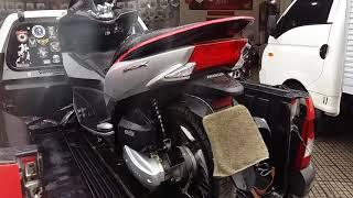 Honda PCX 150 acidentada,  guincho moto,  Moto Socorro,  resgate moto, Japauto Honda
