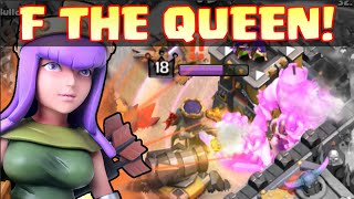 "Clash of Clans - ""I HATE THE QUEEN"" Clan Wars Trolling, Fails, and DESTRUCTION! Why I Hate the Queen"