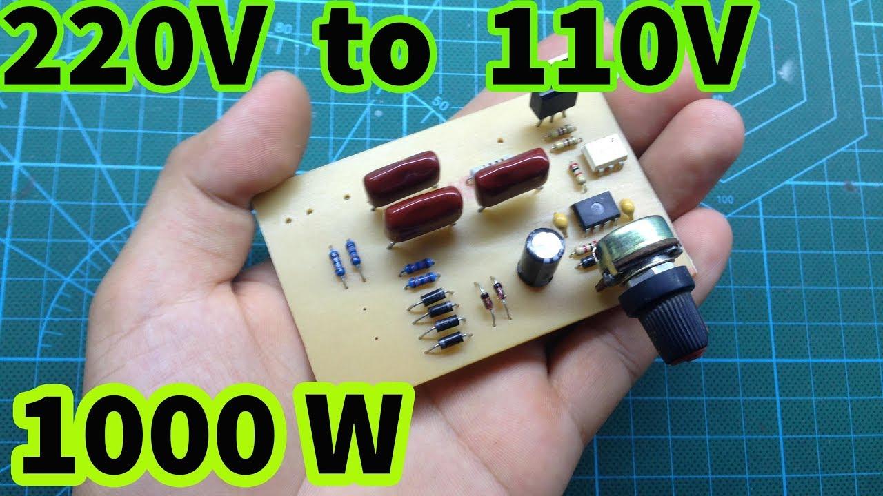 220V to 110V without transformer | Adjust AC voltage - YouTubeYouTube