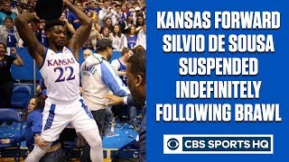 BREAKING: Silvio De Sousa suspended indefinitely for role in Kansas-Kansas St. brawl | CBS Sports HQ
