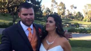 Nick and Ajlan give a wonderful testimonial after their wedding ceremony at Marbella Country Club
