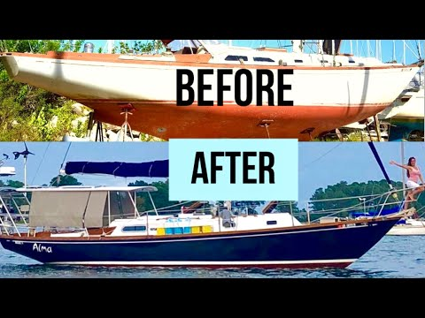 SAILBOAT EXTREME MAKEOVER|FULL Refit|Abandoned Boat That's 50 Years Old|E19