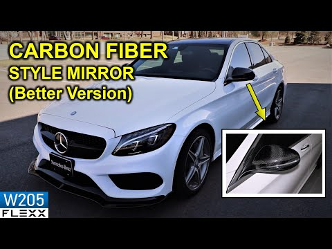 Installing Carbon Fiber Style OEM FIT COVERS For 2015+ Mercedes C300 W205 C-Class