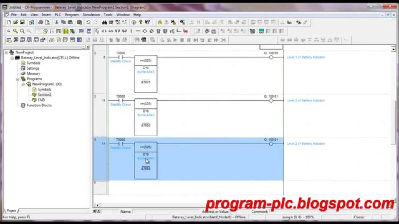 Make Omron Plc Program Using Cx Programmer About Battery