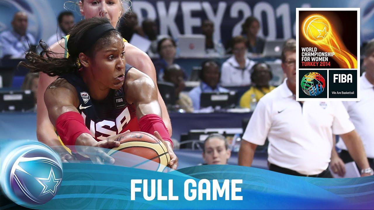 Australia v USA - Full Game - Semi Final - 2014 FIBA World Championship for Women