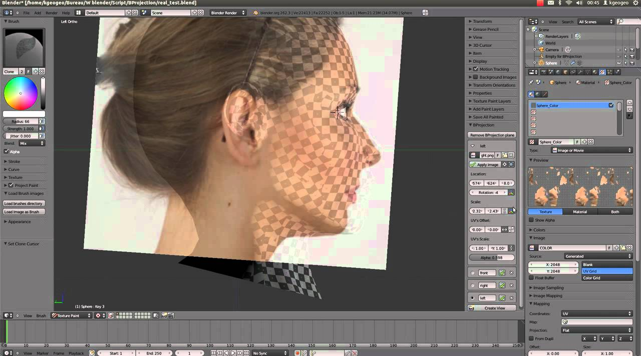Introduction To Character Modeling In Blender Kickass : Bprojection blender addon doovi