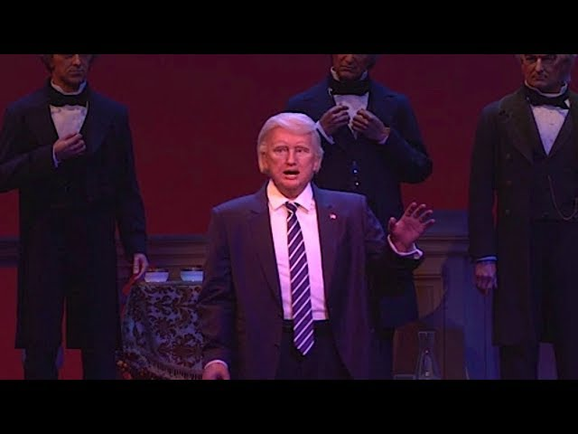 Donald Trump animatronic debuts in Hall of Presidents at Walt Disney World