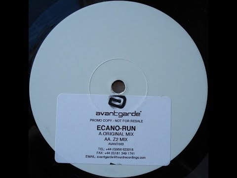 Ecano Run (Z2 Remix) HD Quality Vinyl