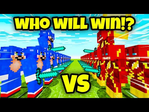 Minecraft: Sonic Vs Flash (MOB BATTLE)