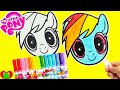 My Little Pony Rainbow Dash Funny Faces Coloring and Surprises