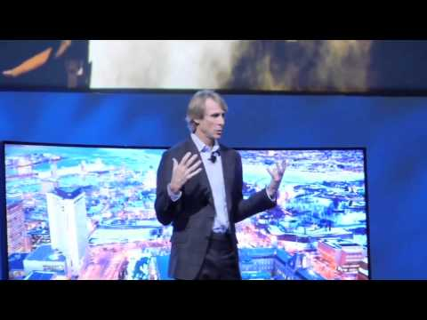 Michael Bay Has Meltdown On Stage During Samsung Presentation at CES 2014 - The REAL Video
