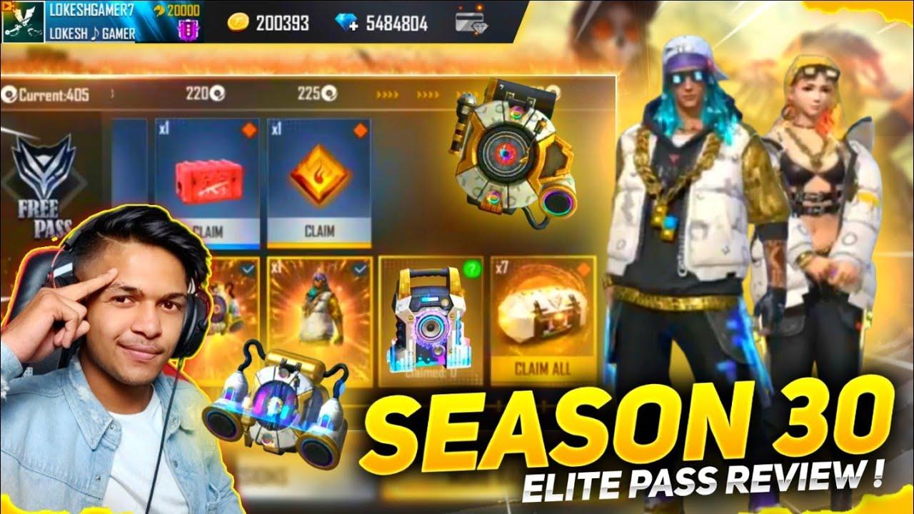 New Season 30 Elite Pass Review & New BackPack Skin & Monster Trucks Skin & New Gun Skin Free Fire