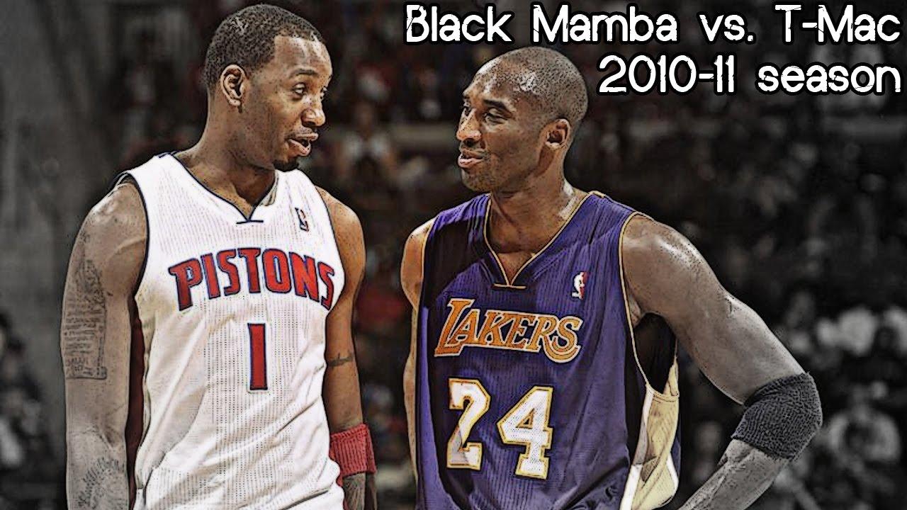Pistons Vs Lakers: Kobe Bryant Vs. Tracy McGrady Full Duel (NBA RS 2010/2011