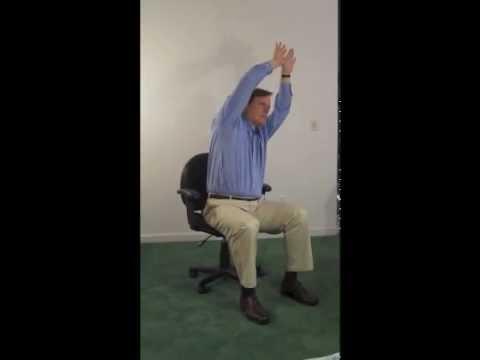 chair yoga seated half moon pose  youtube