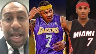 Stephen A. Smith Says Carmelo Anthony Should Join Lakers Or Heat Or Retire