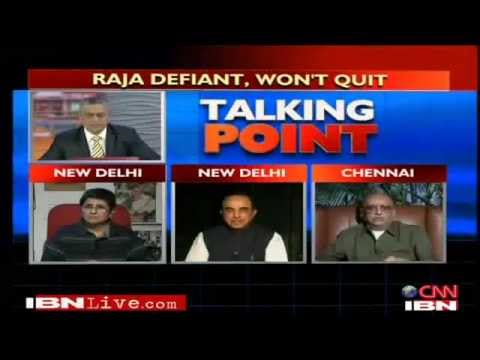 2G Scam debate with Cho Ramaswamy and Subramanian Swamy (full)