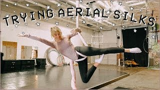 I TRIED AERIAL SILKS FOR THE FIRST TIME... *dangerous*