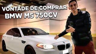 DIRIGI UMA BMW M5 PERIGOSA, TRAÇÃO TRASEIRA DE 750cv