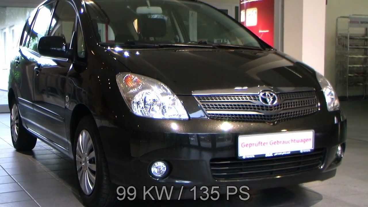 toyota corolla verso 1 8 linea sol 2003 mystikschwarz. Black Bedroom Furniture Sets. Home Design Ideas