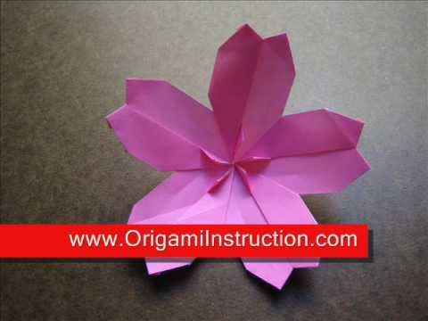 How to Make an Origami Modular Cherry Blossom - YouTube - photo#16