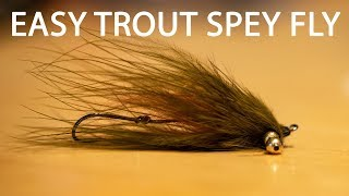 Tie A Super Simple Trout Spey Fly | Using Just 3 Materials!