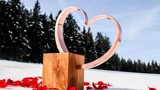 Kupfer Herz zum Valentinstag / Copper heart for Valentine's